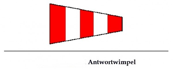 Signalflagge Antwortwimpel